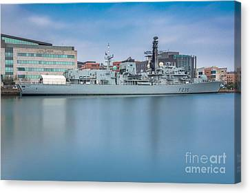Hms Monmouth Canvas Print by Steve Purnell