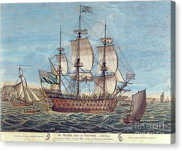 Water Vessels Canvas Print - Hms Victory by English School