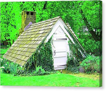 Canvas Print featuring the photograph Hobbit Hut by Susan Carella