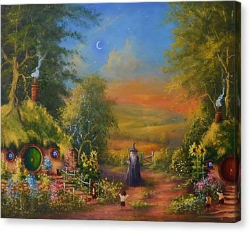 Hobbiton, Disturbing The Peace  Canvas Print by Joe  Gilronan