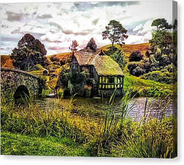Old Mills Canvas Print - Hobbiton Mill And Bridge by Kathy Kelly