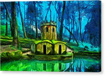 Hobbit's Castle - Da Canvas Print by Leonardo Digenio