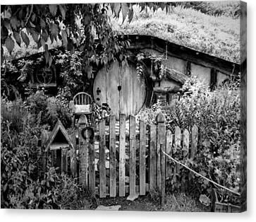 Hobbit's Gate Bw Canvas Print by Kathy Kelly