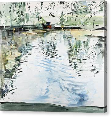 Hobby House And Ripples Canvas Print by Calum McClure