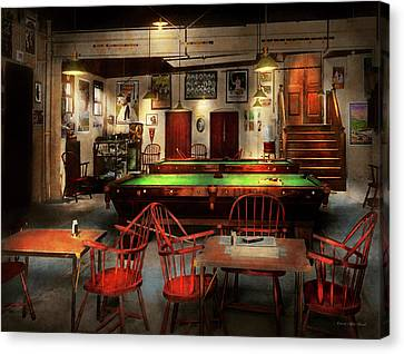 Canvas Print featuring the photograph Hobby - Pool - The Billiards Club 1915 by Mike Savad