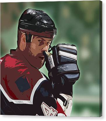Hockey Illustration Canvas Print by Lucas Armstrong