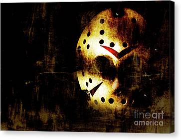 Goalie Canvas Print - Hockey Mask Horror by Jorgo Photography - Wall Art Gallery