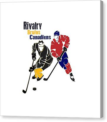 Hockey Rivalry Bruins Canadiens Shirt Canvas Print by Joe Hamilton
