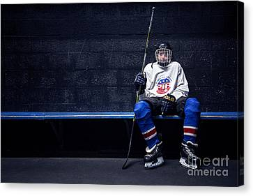 Hockey Strong Canvas Print by Evelina Kremsdorf