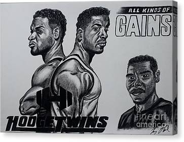 Celeb Canvas Print - Hodgetwins by Troy Howard