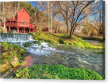 Hodgson Mill Landscape - Missouri Canvas Print by Gregory Ballos