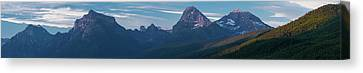 Howe Canvas Print - Howe Ridge Glacier National Park by Steve Gadomski