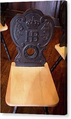 Hofbrauhaus Chair Canvas Print by Darrell Foster