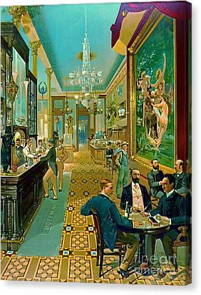 Hoffman House Bar 1890 Canvas Print by Padre Art