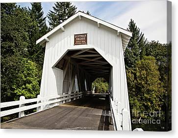 Hoffman Wooden Covered Bridge Canvas Print