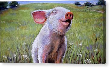 Hog Heaven Canvas Print by Susan Jenkins