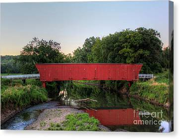 Hogback Covered Briodge Canvas Print by Thomas Danilovich