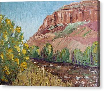 Hogback In Early Fall At Watson Lake Canvas Print by Margaret Bobb