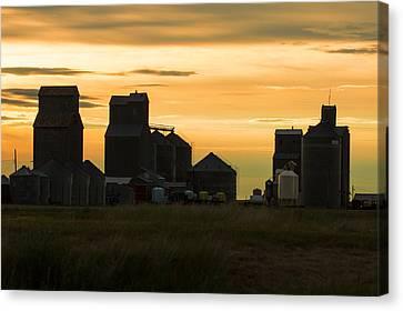 Country Buildings Canvas Print - Hogeland Skyline by Todd Klassy