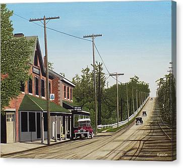 Hoggs Hollow Toronto 1920 Canvas Print by Kenneth M  Kirsch
