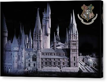 Canvas Print featuring the mixed media Hogwards School  by Gina Dsgn