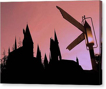 Canvas Print featuring the photograph Hogwarts Castle ... by Juergen Weiss