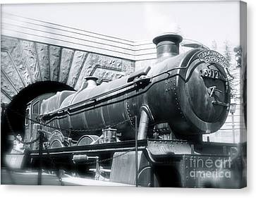Hogwarts Express Black And White Canvas Print by Shelley Overton