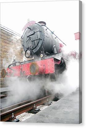 Canvas Print featuring the photograph Hogwarts Express Train by Juergen Weiss