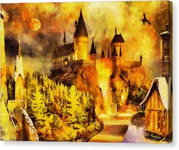 Hogwarts Canvas Print by George Rossidis