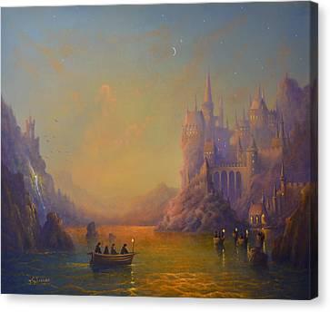 Hogwarts Castle Canvas Print by Joe Gilronan