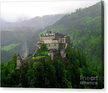 Hohenwerfen Castle Canvas Print by Sheila Ping