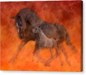 Hokie Horses Canvas Print