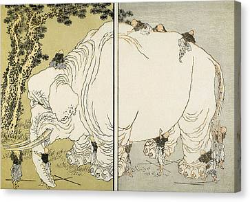 Hokusai: Elephant Canvas Print by Granger