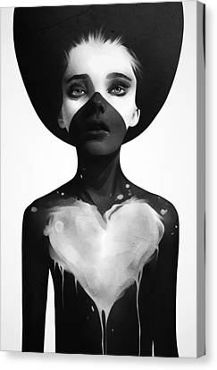 Black And White Canvas Print - Hold On by Ruben Ireland