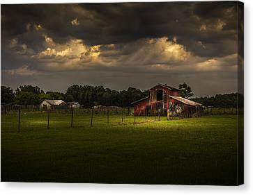 Barbed Wire Canvas Print - Hold Your Breath by Marvin Spates