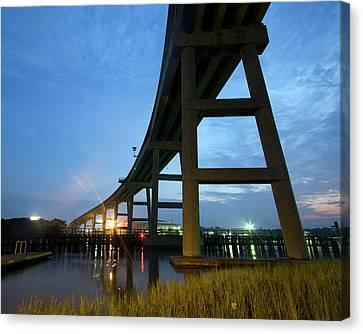 Holden Beach Bridge Canvas Print by Alan Raasch