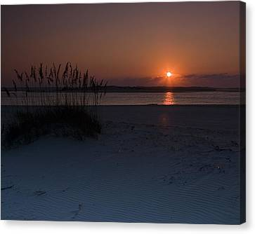 Canvas Print featuring the photograph Holden Beach Sunrise 1 by Alan Raasch