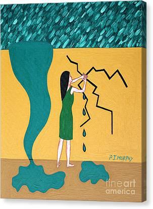 Holding Back The Flood Canvas Print by Patrick J Murphy
