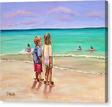 Holding Hands Canvas Print by Patricia Piffath
