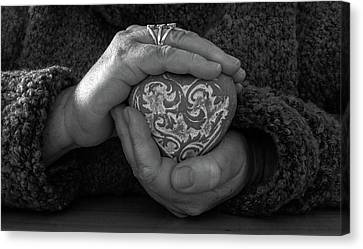 Holding My Heart In My Hands Canvas Print