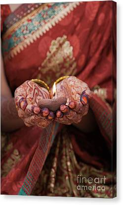 Sari Canvas Print - Holding The Light by Tim Gainey