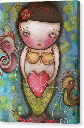 Holding Tight Canvas Print by  Abril Andrade Griffith