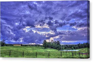 Hole In The Sky Seeing Beyond Copelan Farm Art Canvas Print by Reid Callaway