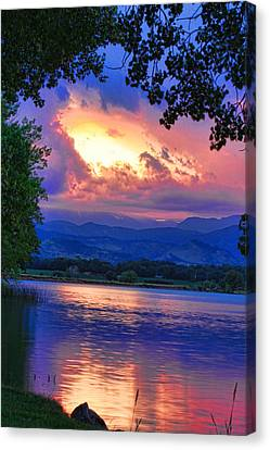 Hole In The Sky Sunset Canvas Print by James BO  Insogna