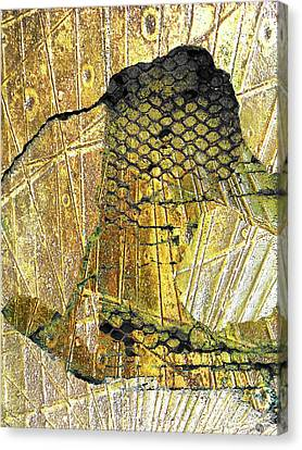 Canvas Print featuring the mixed media Hole In The Wall by Tony Rubino