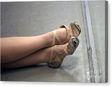 Holes In Dance Shoes Canvas Print by Steve Augustin