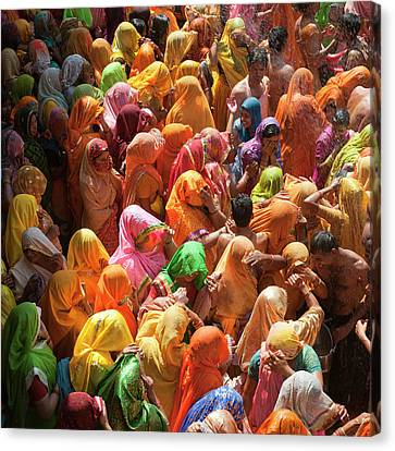 Holi India Canvas Print by Tayseer AL-Hamad