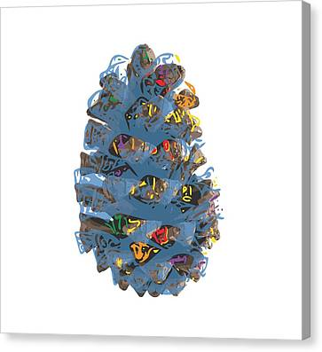 Holiday Blue Cone Canvas Print by Stan  Magnan