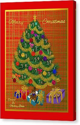 Holiday Christmas Tree Card  Canvas Print