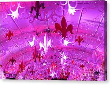 Holiday Fleur De Lis Canvas Print by Jeanne  Woods